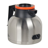 Bunn 43873.0001 64 oz. Stainless Steel Economy Thermal RFID Carafe with Orange Top