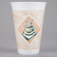 Dart 16X16G 16 oz. Espresso Foam Cup - 25/Pack