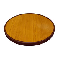 American Tables & Seating ATR48 Resin Super Gloss 48 inch Round Two Tone Table Top - Cherry and Mahogany