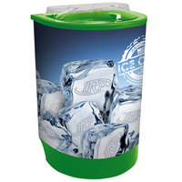 IRP Lime Green Iceberg 500 60 Qt. Insulated Portable Beverage Cooler / Merchandiser with Lid, Drain, and Semicircular Design