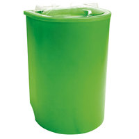Lime Green Iceberg 500 Insulated Portable Beverage Cooler / Merchandiser with Lid and Drain and Semicircular Design 60 Qt.