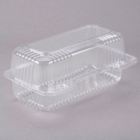 Dart C19UT1 StayLock 8 1/2 inch x 4 1/2 inch x 3 5/8 inch Clear Hinged Plastic Small High Dome Oblong Container - 125/Pack