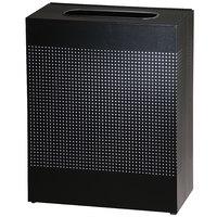 Rubbermaid FGSR18EPLTBK Silhouettes Textured Black Steel Designer Rectangular Waste Receptacle - 40 Gallon