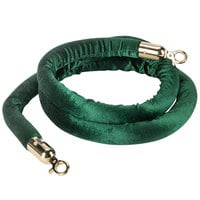 Aarco 8' Green Stanchion Rope with Brass Ends