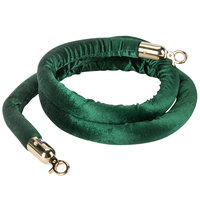 Aarco TR-127 8' Green Stanchion Rope with Brass Ends