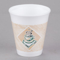Dart 8X8G ThermoGlaze 8 oz. Cafe G Espresso Foam Cup - 25/Pack