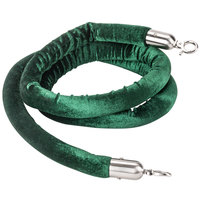 Aarco 8' Green Stanchion Rope with Satin Ends