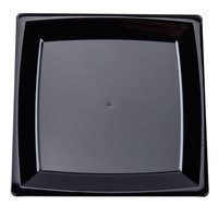 WNA Comet MS6BK 5 1/4 inch Black Square Milan Plastic Dessert Plate - 168 / Case