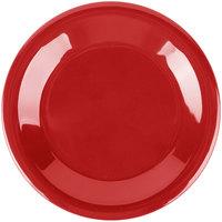Carlisle 3301805 Sierrus 6 1/2 inch Red Wide Rim Melamine Pie Plate   - 48/Case