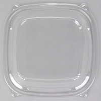 Dart C2464BDL PresentaBowls Pro Clear Square Lid for 24, 32, 48, and 64 oz. Square Plastic Bowls - 63/Pack