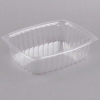 Dart C48DER ClearPac 1.5 Qt. ClearPac Clear Rectangular Plastic Container - 63/Pack