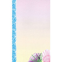 8 1/2 inch x 11 inch Menu Paper - Seafood Themed Shell Design Cover - 100/Pack