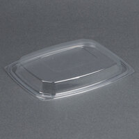 Dart Solo C64DDLR ClearPack Clear Snap-On Dome Lid for 30, 48, and 64 oz. Plastic Containers - 63/Pack