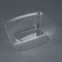 Dart Solo C64DER ClearPac 2 Qt. Clear Rectangular Plastic Container - 63/Pack