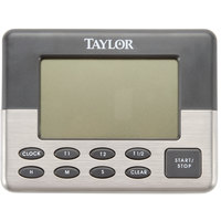 Taylor 5872-9 Jumbo Digital Dual Event Kitchen Timer with Memory and Clock