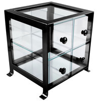 Cal-Mil 1586-13 Soho Four Drawer Black Steel Bread Case - 14 inch x 13 inch x 14 1/4 inch