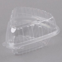 Dart Clearseal C54HT1 6 inch x 6 inch x 3 inch Clear Hinged Lid Pie Wedge Container   - 125/Pack