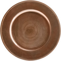 The Jay Companies 1270172 13 inch Round Copper Beaded Plastic Charger Plate