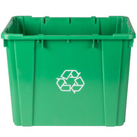 Continental 5914-2 Green 14 Gallon Curbside Recycling Bin