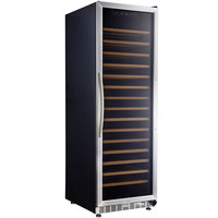 Eurodib MH168SZ Single Section Single Temperature Full Glass Door Wine Refrigerator - 16 Shelves