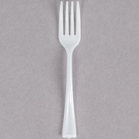 Fineline Tiny Temptations 6500-WH 3 7/8 inch Tiny Tines White Plastic Tasting Fork   - 960/Case