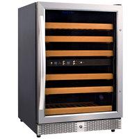 Eurodib USF54D Single Section Half Height Dual Temperature Glass Door Wine Refrigerator - 6 Shelves