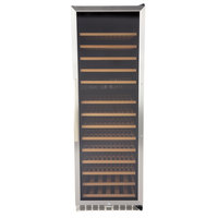 Eurodib USF168D Single Section Dual Temperature Full Glass Door Wine Refrigerator - 14 Shelves