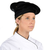 Chef Revival H036BK Black Poly-Cotton Blend Chef Beret