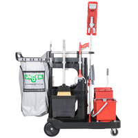 Unger RRSPC 16 Qt. Better Cleaning Specialist Janitorial Cart and Complete Cleaning System