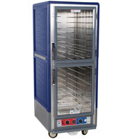 Metro C539-CLDC-L-BU C5 3 Series Low Wattage Lip Load Heated Holding and Proofing Cabinet with Clear Dutch Doors - Blue