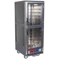 Metro C539-CLDC-U-GY C5 3 Series Low Wattage Universal Slide Heated Holding and Proofing Cabinet with Clear Dutch Doors - Gray