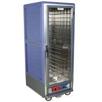 Metro C539-CLFC-4-BU C5 3 Series Low Wattage Heated Holding and Proofing Cabinet with Clear Single Door - Blue