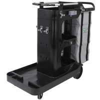 Unger RRBSC Better Cleaning Double Supply Janitorial Cart with Vinyl Supply Module