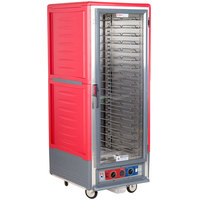 Metro C539-CLFC-U C5 3 Series Low Wattage Universal Slide Heated Holding and Proofing Cabinet with Clear Single Door - Red