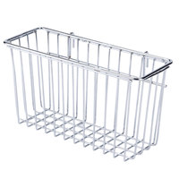 Regency Chrome Storage Basket for Wire Shelving - 13 3/8 inch x 5 inch x 7 inch