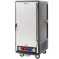 Metro C537-CLFS-4 C5 3 Series Insulated Low Wattage 3/4 Size Heated Holding and Proofing Cabinet with Fixed Wire Slides and Solid Door - Gray