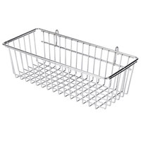 Regency Chrome Storage Basket for Wire Shelving - 17 3/8 inch x 7 1/2 inch x 5 inch