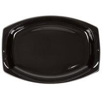 """Genpak BLK11 Silhouette 7"""" x 10 1/2"""" Black Premium Plastic Platter - 500/Case"""
