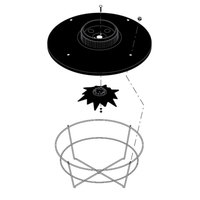 Bunn 07177.0003 Black Plastic Funnel Cover Assembly with Cover, Spray Head Assembly, and Basket for Bunn Coffee Brewers