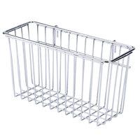 Regency Chrome Storage Basket for Wire Shelving - 17 3/8 inch x 7 1/2 inch x 10 inch