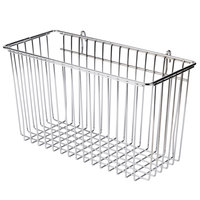 Regency Chrome Storage Basket for Wire Shelving - 17 3/8 inch x 7 1/2 inch x 10 inch