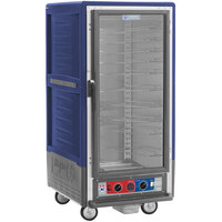 Metro C537-CLFC-U C5 3 Series Insulated Low Wattage 3/4 Size Heated Holding and Proofing Cabinet with Universal Wire Slides and Clear Door - Blue