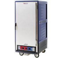 Metro C537-CLFS-U C5 3 Series Insulated Low Wattage 3/4 Size Heated Holding and Proofing Cabinet with Universal Wire Slides and Solid Door - Blue