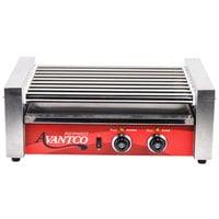 Avantco RG1824 24 Hot Dog Roller Grill with 9 Rollers - 120V, 750W