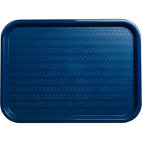 Carlisle CT121614 Customizable Cafe 12 inch x 16 inch Blue Standard Plastic Fast Food Tray - 24/Case