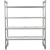 Cambro ESU244272V4580 Camshelving® Elements Vented 4-Shelf Stationary Starter Unit - 24 inch x 42 inch x 72 inch