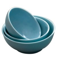 Thunder Group 3904 Blue Jade 8 oz. Round Melamine Bowl - 12/Case
