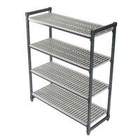 Cambro ESU215464V4580 Camshelving® Elements Vented 4-Shelf Stationary Starter Unit - 21 inch x 54 inch x 64 inch