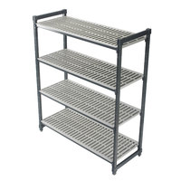 Cambro ESU244264V4580 Camshelving® Elements Vented 4-Shelf Stationary Starter Unit - 24 inch x 42 inch x 64 inch