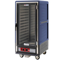 Metro C537-HLFC-L-BU C5 3 Series Insulated Low Wattage 3/4 Size Heated Holding Cabinet with Lip Load Aluminum Slides and Clear Door - Blue